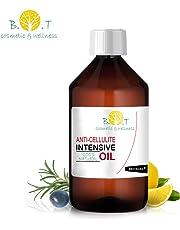 Olio Intensivo Anti cellulite Dimagrante 100% Naturale con Oli essenziali di limone, rosmarino, cannella, basilico e ginepro 250 ml - Penetra 6 volte più in profondità