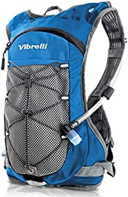 Vibrelli Hydration Pack & 2L Hydration Water Bladder - High Flow Bite Valve - Hydration Backpack with Stor