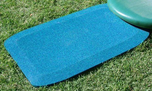 KIDWISE 1.5 Inch Fanny Pads - Blue Rubber Wear Mats (Set of 2) by KIDWISE