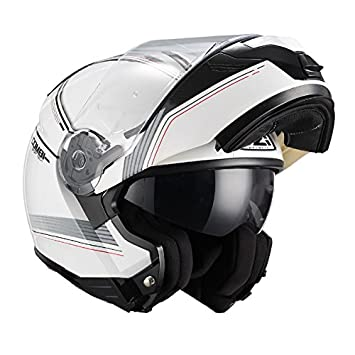 NZI Casco Modular FIBRA Combi DUO Graphics Bands Blanco Decorado (S)