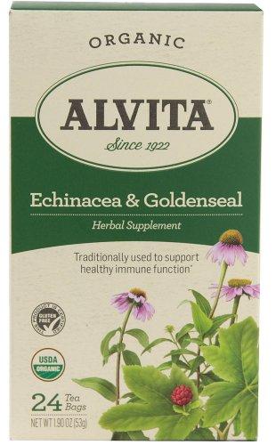 Goldenseal Tea Bags (Alvita Teas Echinacea and Goldenseal Tea, 24)