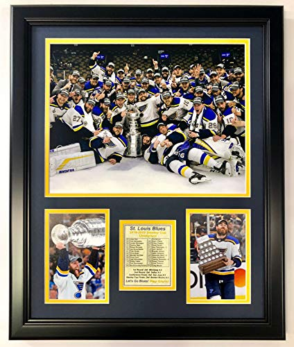 Legends Never Die NHL St. Louis Blues Stanley Cup Champions Framed Double Matted Photos, Posed, 18