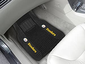 FANMATS NFL Pittsburgh Steelers Nylon Face Deluxe Car Mat at Steeler Mania
