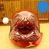 Buddhist Camphorwood Wooden Fish Temple Block Zen Drum with Mat 3.5 inch