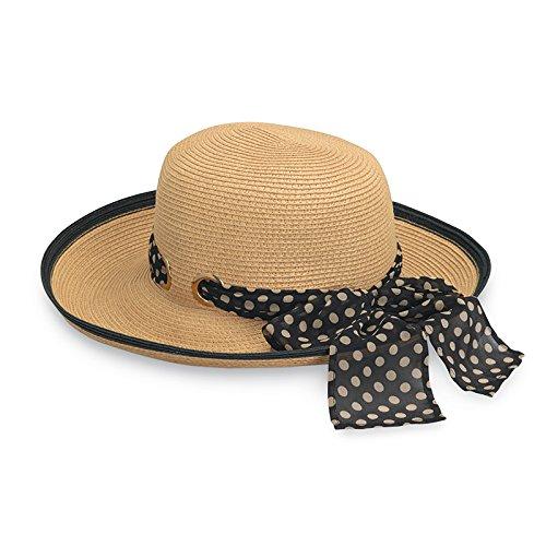 Wallaroo Mujer Julia Sol Sombrero – 100% Papel Trenzado – Ajuste – UPF50 + -
