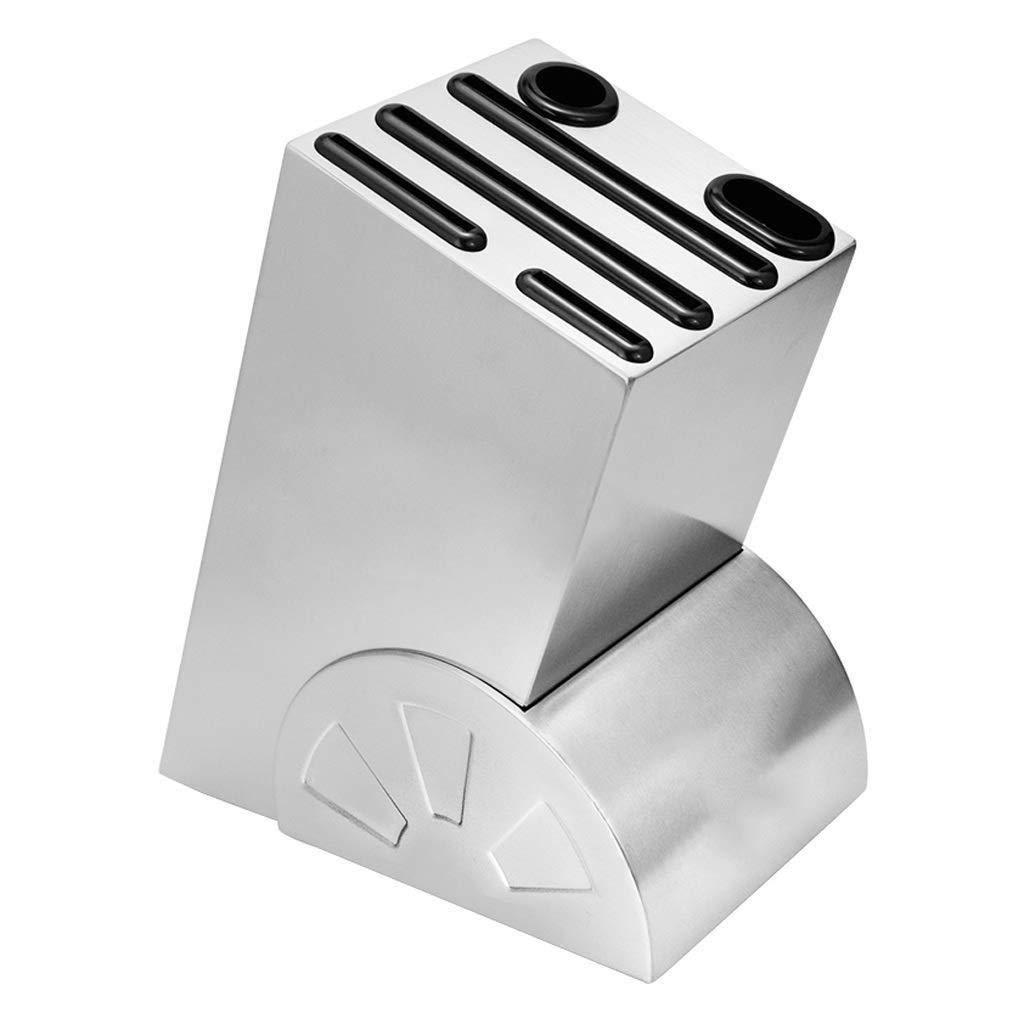 Stainless Steel Household Knife Holder Kitchen Supplies Drain Dish Knife Rack Rack Tool Storage Knife Seat Free Punching Knife