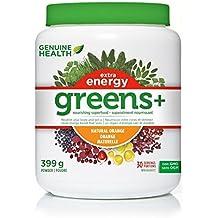 Genuine Health Greens+ Extra Energy, Orange, 409 g