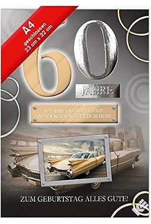 Geburtstagskarte Xxl Zum 60 Geburtstag Oldtimer Umschlag Amazon