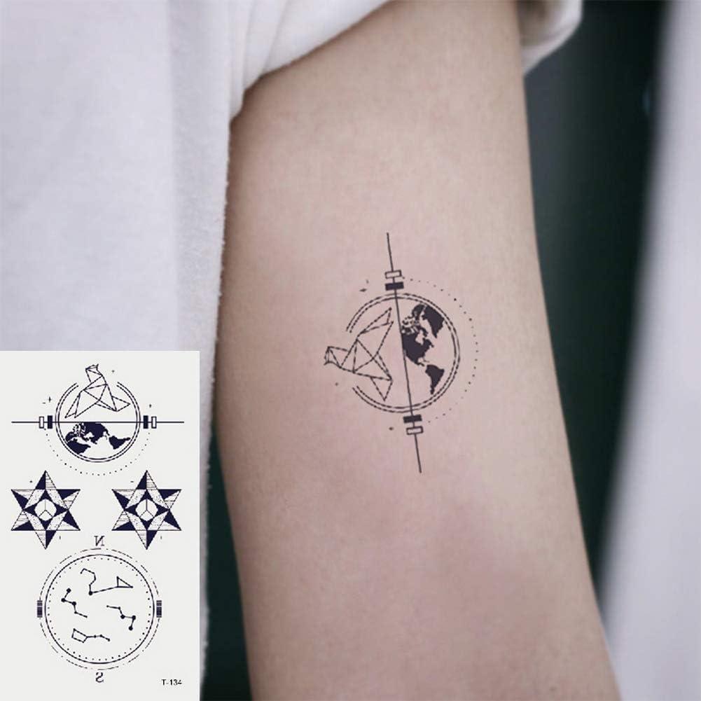 Oottati 2 Hojas Pequeño Lindo Tatuaje Temporal Tattoo Estrella ...