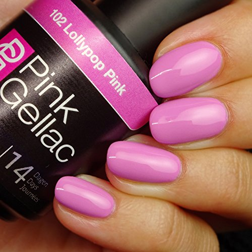 Pink Gellac #102 Lollypop Pink Soak-Off UV / LED Gel Polish (15ml / 0.5 fl oz)