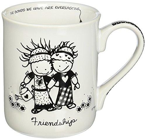 Enesco Children of the Inner Light Friendship Stoneware Gift Mug, 16 oz.
