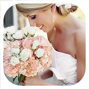 Memoirs- 6 Pieces/lot 45cm Artificial Flower Fresh Flowers Wedding Decoration Bridal Bouquet Flores Home Decor 110