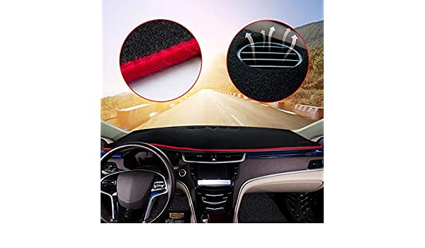 Autoly Black Dashboard Cover Shield Sun Carpet Pad Custom for Ford Focus 2012-2016