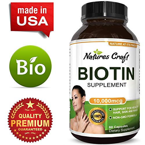Pure + Potent Biotin Vitamins - Promotes Hair Growth + Prevents Hair  Loss - Introduces Better Skin + Hair + Nails - Natural Supplement for Men and Women- Helps Promote  Faster  Metabolism (Best Vitamins To Stop Hair Loss)