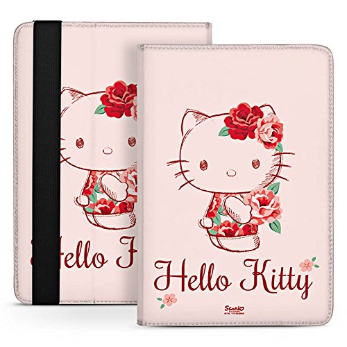 Odys Connect 8 plus Tasche Etui Stand Up Tasche Bag - Hello Kitty - Roses