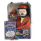 ThrowThings.com Bonus Bundle! Emmett Kelly Jr Ventriloquist Dummy Doll PLUS Ventriloquism Revealed Booklet PLUS Two Finger gEyes