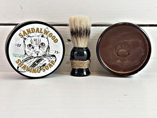 Sandalwood Mens Shaving Soap, Manly Shaving Soap Jar, Wet Shave, Sufer Cat, Unique Gifts For Men, Funny Gifts For Men, Mens Shave Soap Jar
