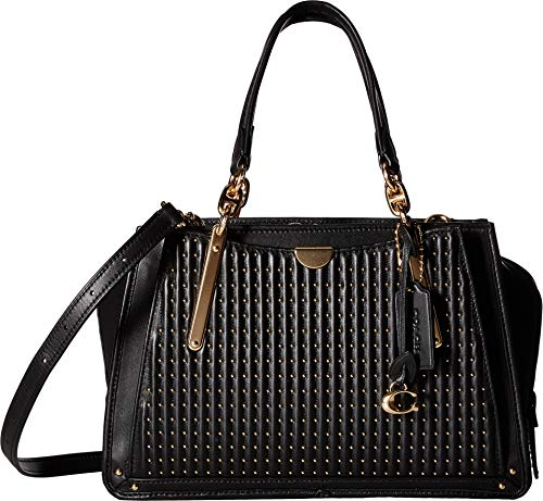COACH Women's Quilting with Rivets Dreamer Gold/Black One Size -