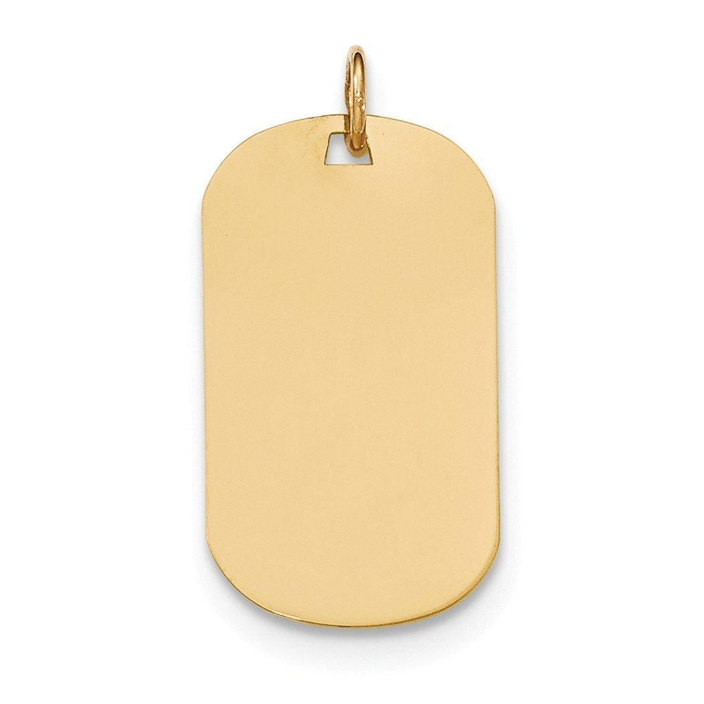 Best Designer Jewelry 14k Plain .035 Gauge Engraveable Dog Tag Disc Charm