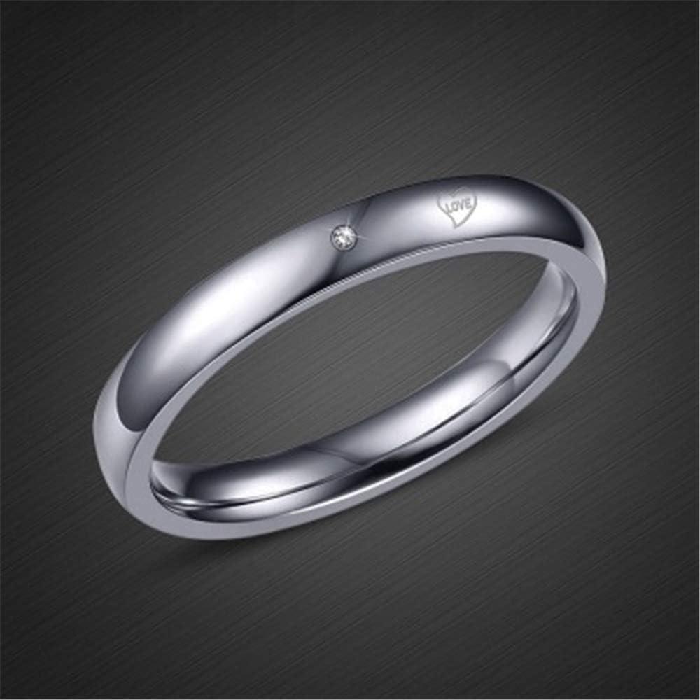 7 Smart.A Valentines Day Couple Diamond Ring Titanium Steel Diamond Ring