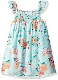 The Children\'s Place Baby Girls\' Flutter Sleeve Dress, Crystalmnt, 3T