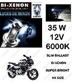 Volga Hid Xenon Head Light Kit For Bajaj Pulsar 220 H4 6000K Slim Ballast Super Bright