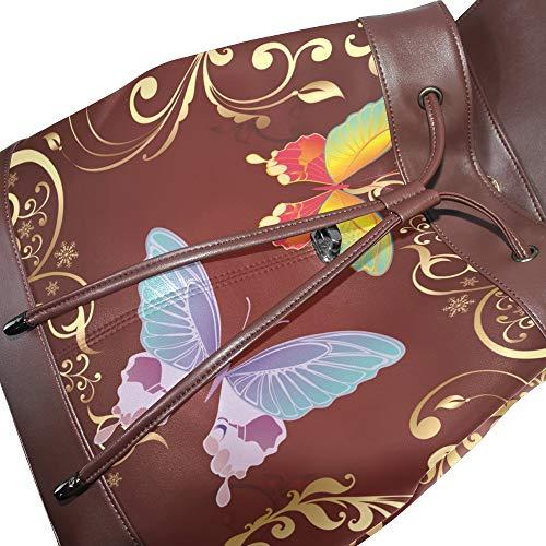 Dragonswordlinsu Mochila Única Bolso Para Talla Multicolor Piel De Mujer fpgxw5frq