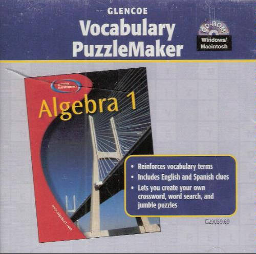 Download Algebra 1 Vocabulary Puzzlemaker ) 2003 PDF