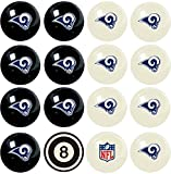 Imperial Officially Licensed NFL Merchandise: Home vs. Away Billiard/Pool Balls, Complete 16 Ball Set, Los Angeles Rams