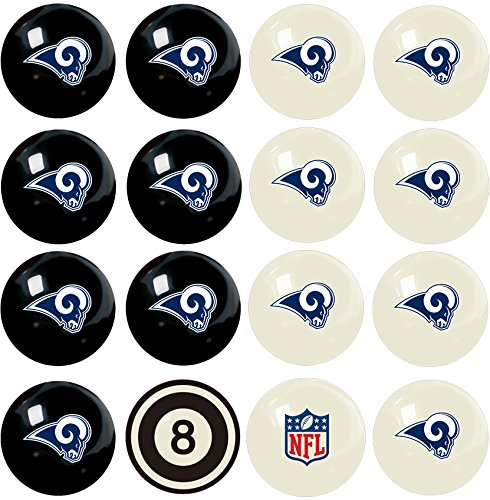 Imperial Officially Licensed NFL Merchandise: Home vs. Away Billiard/Pool Balls, Complete 16 Ball Set, Los Angeles Rams by Imperial
