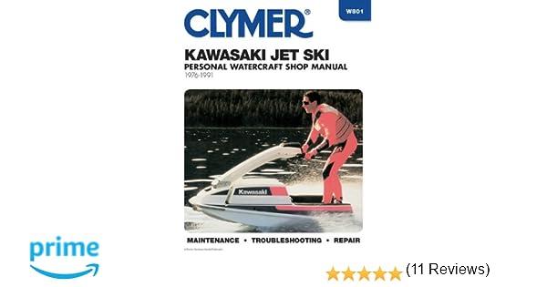 clymer kawasaki jet ski 1976 1991 clymer personal watercraft rh amazon com Kawasaki JS300 AJ Kawasaki 550 Jet Ski 88