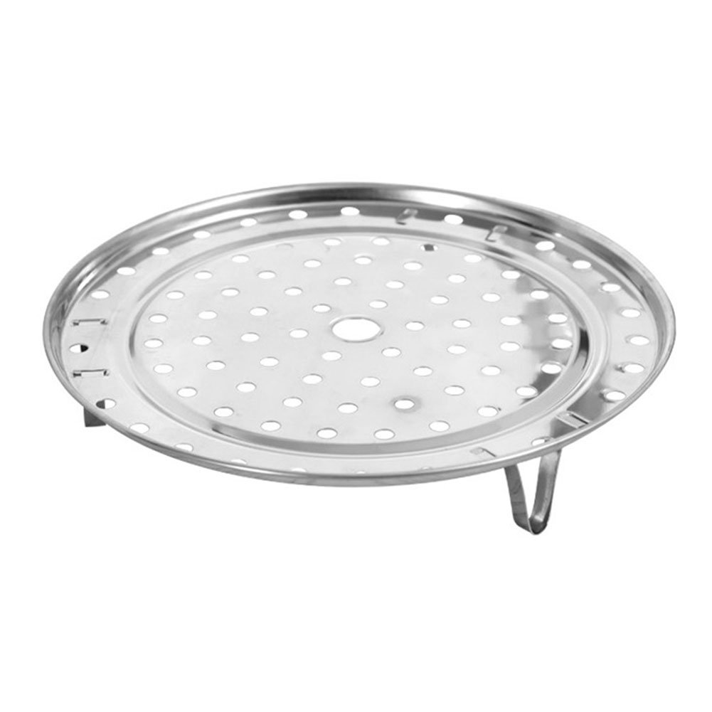Stainless Steel Steam Basket Rack and Cooling Rack Cooking Round Pressure Cooker Food Steamer with Detachable Legs Insert Pot for Cooking,Toast,Bread,Salad,Baking (L)