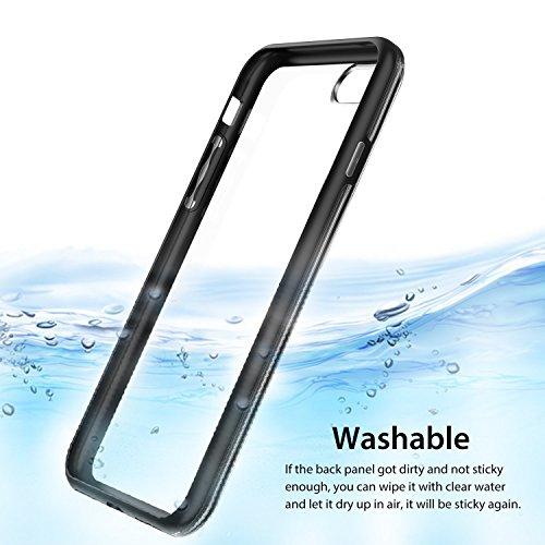 iPhone 7 Plus Hülle, RANVOO Magisch Handfrei Case, Stoß-Absobierend TPU Rahmen + Klebrig Transparente Rückseite für iPhone 7 Plus