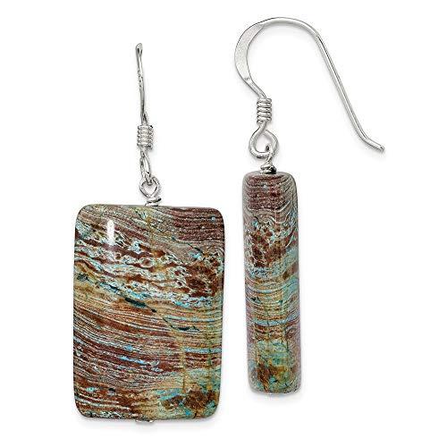 925 Sterling Silver Jasper Drop Dangle Chandelier Earrings Fine Jewelry Gifts For Women For Her