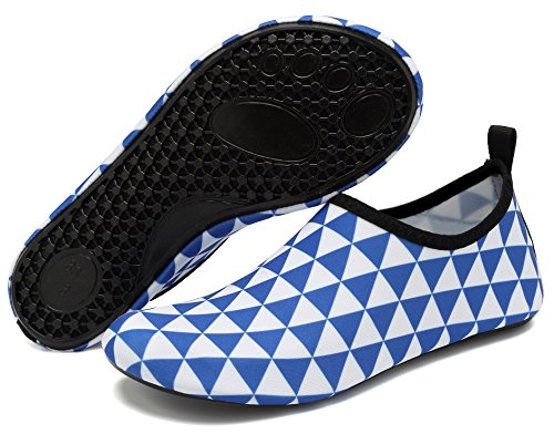 Swim Beach Womens Socks Whiteblue Yoga Surf Barefoot Exercise Mens and Pool for Shoes Water AoSiFu Aqua zwB8pHnq