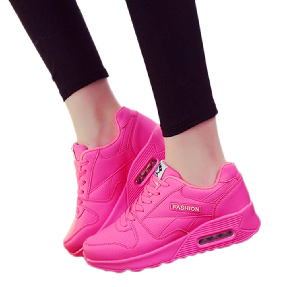 Fashion Solid Color Women's Shoes Round Head Casual Shoes Outdoor Walking Shoes Flat Shoes with Women's Shoes Hot Pink