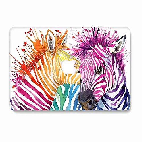 Hard Case for MacBook Pro 13 inch Model A1278, AQYLQ Ultra Slim Matte Plastic Rubber Coated Protective Hard Shell Cover, D-2 Pinto Zebra