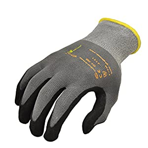 MicroFoam Nitrile Coated Work Gloves for General Purposes, Lightweight Work Gloves, 12 Pair Pack, Medium