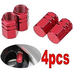4 Pieces Aluminum Auto Bicycle Car Tire Valve Caps Tyre Wheel Cover Rim Accessories