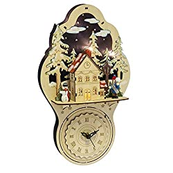 CBK Midwest Lighted LED Village Wall Clock