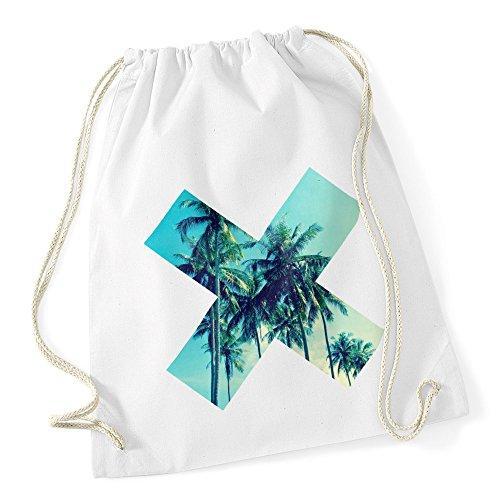 Turnbeutel X Aufdruck Pusteblume Ananas Rose Blume Palme Galaxy Autiga® X Fotoprint palmen