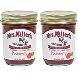 Mrs. Miller's Amish Homemade Strawberry No Granulated Sugar Added Jam 9 Ounces - Pack of 2 (No Corn Sugar) Larger Image