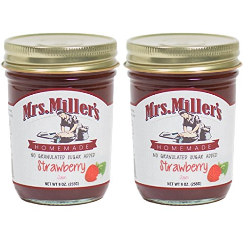 Mrs. Miller's 2 Pack of Homemade Strawberry Jam