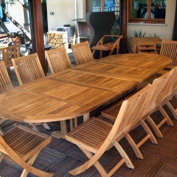 Velmo ovalado-Mesa extensible hasta 3 metros 8 2 sillas para niños ...