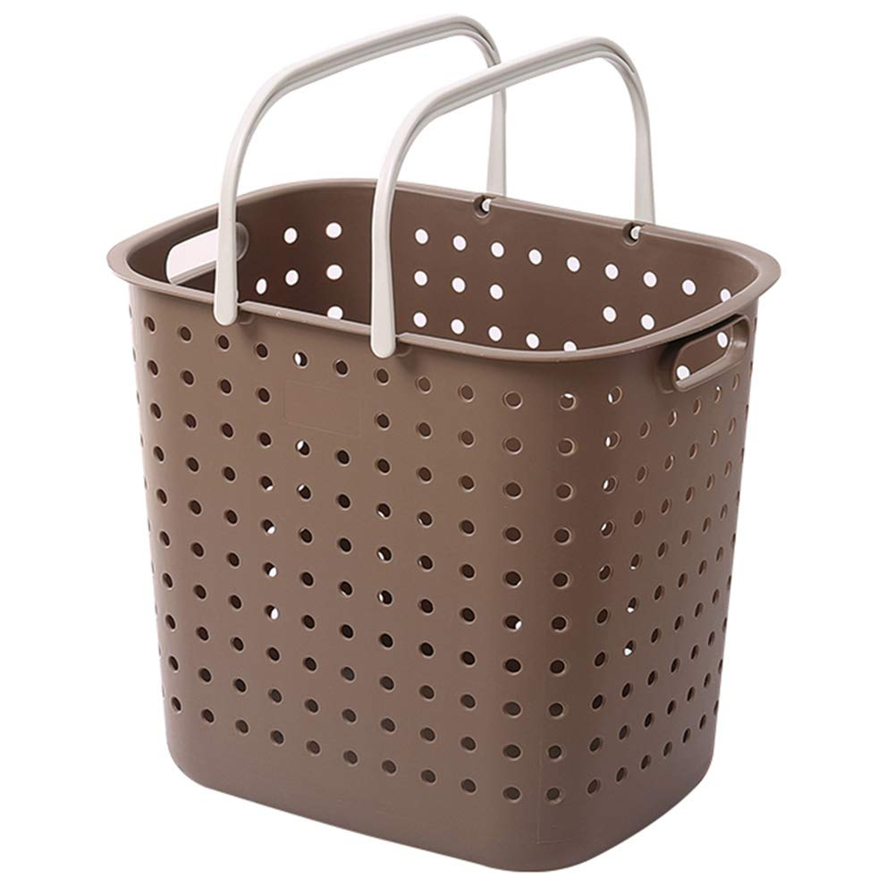 BROWN With no separate Storage Basket Toy Storage Laundry Basket Baby Storage Large Plastic Laundry Basket Japanese Style Dirty Clothes Storage Finishing Basket ZHANGQIANG (color   Brown, Size   with no Separate)