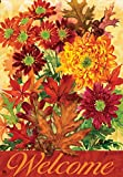 """Autumn Bouquet"" Fall Flowers, Welcome Standard House Flag, 28″ X 40″ Review"