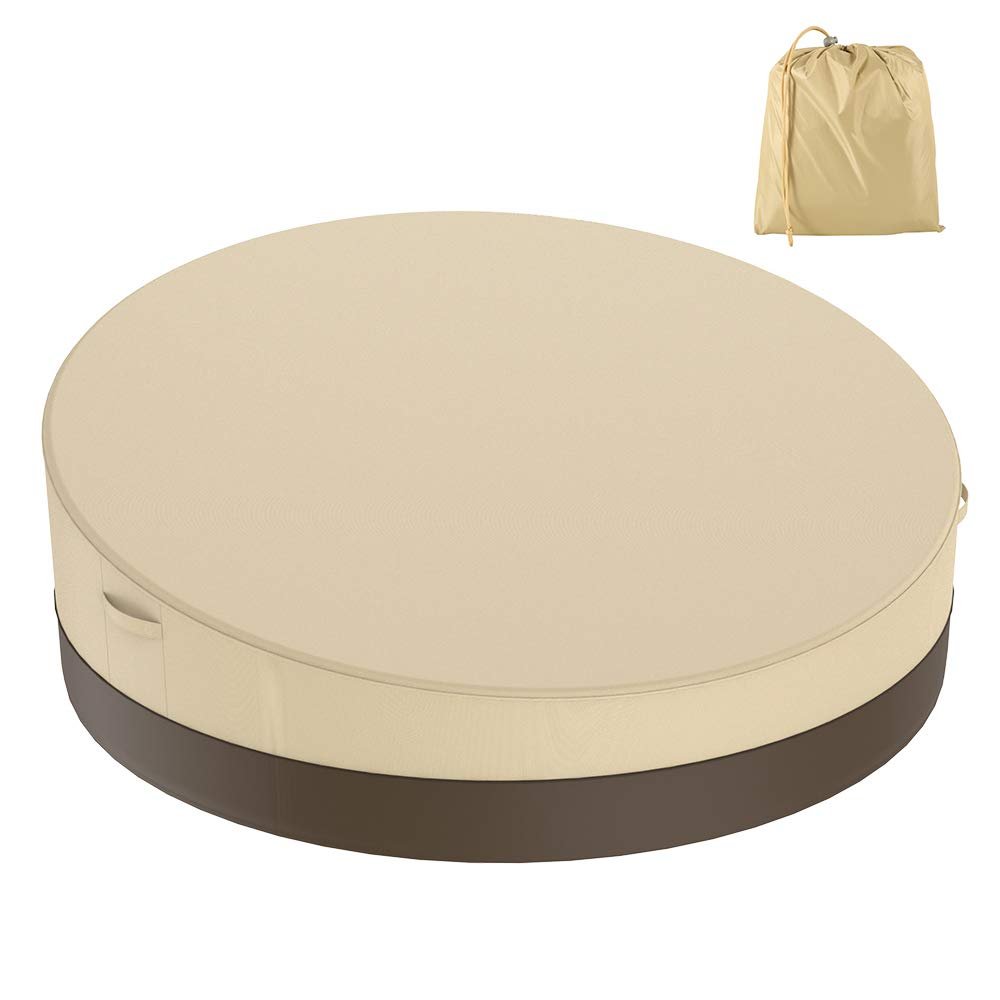 BullStar Patio Round Daybed Cover 90 Inch, 420D Outdoor Garden Furniture Cover Heavy Duty Oxford Fabric Day Bed Sofa Cover Waterproof UV & Weather Resistant by BullStar