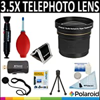 Polaroid Studio Series 3.5x HD Super Telephoto Lens + Cleaning & Accessory Kit For The Pentax X-5, K-01, K-30, K-X, K-7, K-5, K-5 II, K-R, 645D, K20D, K200D, K2000, K10D, K2000, K1000, K100D Super, K110D,ist D,ist DL,ist DS,ist DS2 Digital SLR Cameras Which Have Any Of These (18-250mm, 28-105mm) Pentax Lenses
