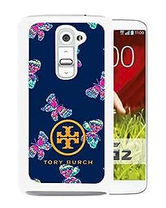 Tory Burch 25 White Fashionable Design LG G2 Plastic Case