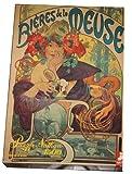 Bieres de la Meuse (1897) Poster Puzzle - 1500 Pieces Artwork by Alfons Mucha